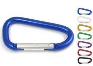 Carabiner Aluminium Hook Spring Loaded For Keys etc.Various Colours. 57mm. Code ZU9